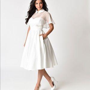 Dresses & Skirts - [Unique Vintage] White 1940s-style Dress